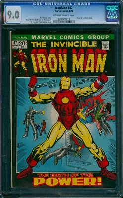 Iron Man # 47  Classic Barry Smith Origin Issue !  CGC 9.0 scarce book !
