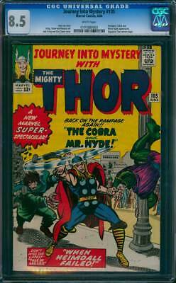 Journey into Mystery # 105  The Cobra & Mr.Hyde !  CGC 8.5 scarce book !