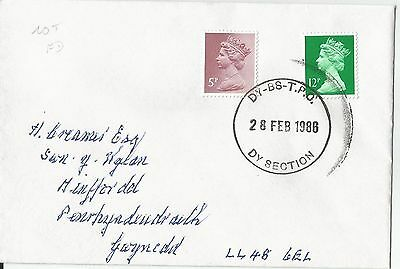 1986 Derby - Bristol TPO DY Section postmark on envelope NOT First Day - scarce