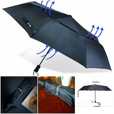 """Golf Umbrella Windproof Double Canopy Large Automatic 47"""" Unbreakable Frame Auto"""