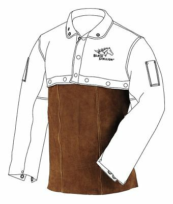 "Split Cowhide Leather Welding Bib Apron, Length 20"", Buckle Closure Type"