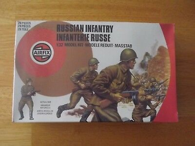 AIRFIX 1/32nd. SCALE.RUSSIAN INFANTRY.NEW. STILL FACTORY SEALED.28 FIGURES.RARE