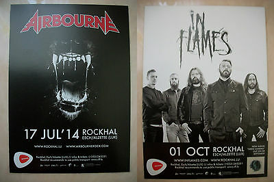 Flyer Airbourne / In Flames 2014 Rockhal