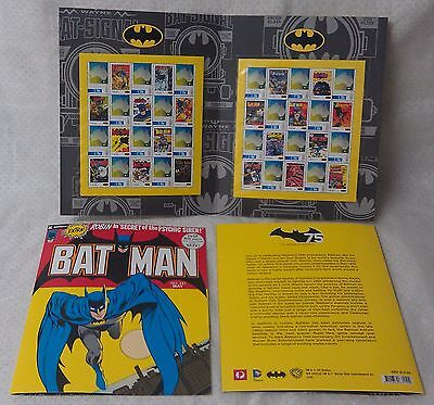 BATMAN & ROBIN stamp set comic book style presentation 20 x 70c stamps MUH MNH