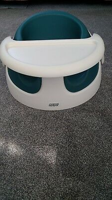Mamas & Papas baby snug booster seat with tray  ( Green)