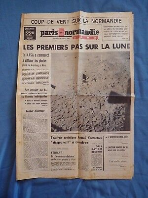 Apollo 11. Man on the Moon. French newspaper Cover Pages. 1969