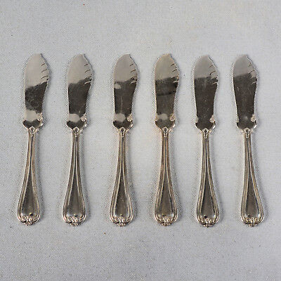 """Set Of Six 1847 Rogers Bros. """"priscilla"""" Xs Triple Butter Knives - 5-1/4"""""""