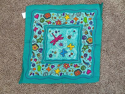 GIRL SCOUTS Little Brownie Bakers DRAGONFLY Butterfly FLOWERS Bandana SCARF