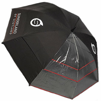 New- Sunderland Performance Clearview 60 Inch Golf Umbrella In Black/Transparent