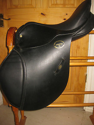 "Jeffries Master Saddlers General Purpose Approved English Leather Saddle--17""m🐎"