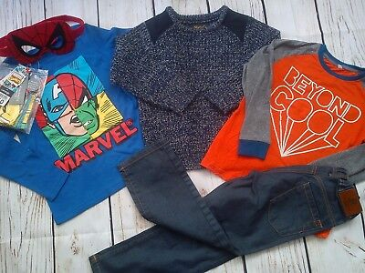 39x WINTER NEW USED BUNDLE OUTFITS BOY CLOTHES 5/6 YRS(4.5)