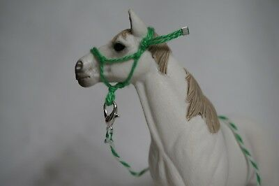 Handmade Schleich Horse Rope Halter with Lead- Green