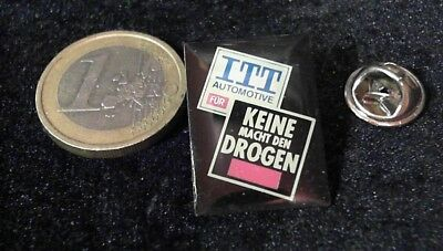 IT Cebit Technology Telecom Pin Badge ITT Automotive keine Drogen
