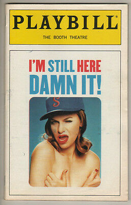 "Sandra Bernhard  Playbill ""I'm Still Here Damn It!""  1998   Broadway"