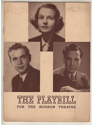"Luther Adler ""Two On An Island""  Broadway Playbill  1940  Betty Field"