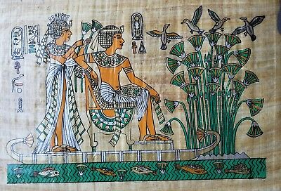 Art Egyptian Genuine Papyrus Ancient Egypt paper hand made wall artistic