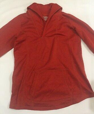 Mountain Mama Pullover Olympia Soft Shell Red Shawl Collar Women Maternity Small
