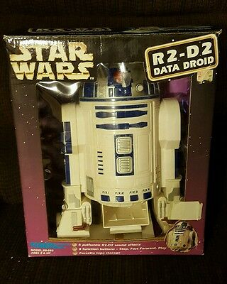 Star Wars R2D2 data droid cassette player in original box Collectible