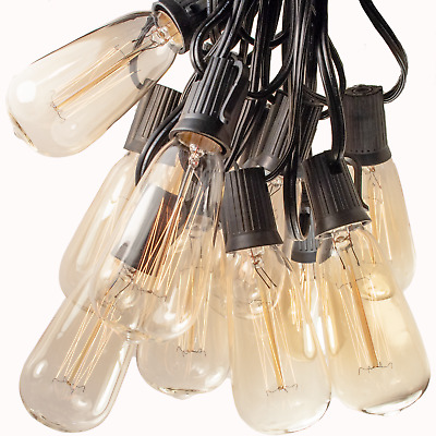 Vintage Edison Outdoor / Indoor Patio String Lights (25', 50' and 100' Lengths)