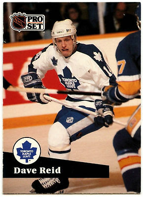 Dave Reid Maple Leafs Pro Set Prototype Preview 1991-2 Ice Hockey Card (C533)*
