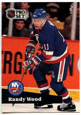 Randy Wood  Islanders  Pro Set Prototype Preview 1991-2 Ice Hockey Card (C533)*