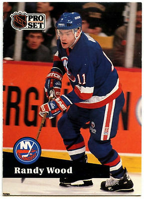 Randy Wood - Islanders - Pro Set Prototype Preview 1991-2 Ice Hockey Card (C533)
