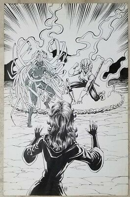 Ron lim original art - splash page -