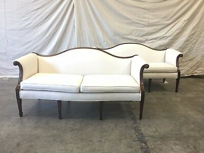 Pair of English Chippendale Mahogany Sofas Couches