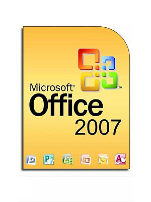 Microsoft Office 2007 for 3 users inc Word, Excel,Powerpoint etc