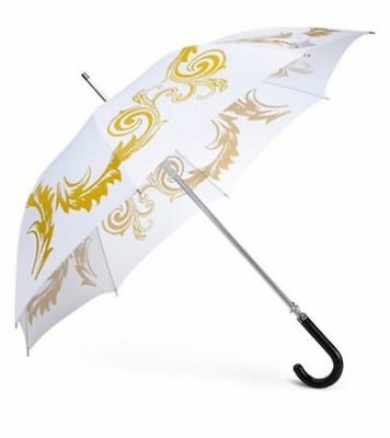 Versace parfums large jumbo gold white umbrella Medusa Executive logo vine NEW