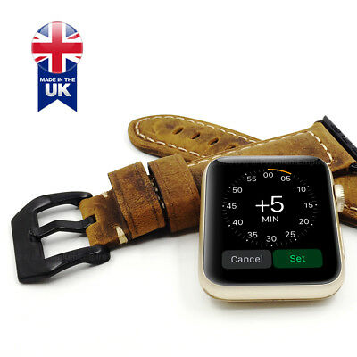 Thick Premium Quality Leather Apple Watch Strap Band Series 1 2 3 4 42/44mm 40mm