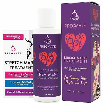 Pregmate Stretch Mark And Scar Cream Natural Organic Treatment Moisturizer 4 oz