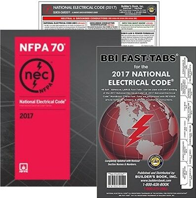 NFPA National Electrical Code (NEC) Paperback, Fast Tabs and Quick Card, 2017 Ed