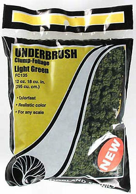 NEW Woodland Scenics Underbrush Clump Foliage Light Green FC135