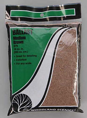 NEW Woodland Scenics Ballast Medium Brown B79