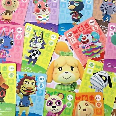 AMIIBO Animal Crossing Series 4 Cards Pick Your Own 301-400 Happy Home Designer