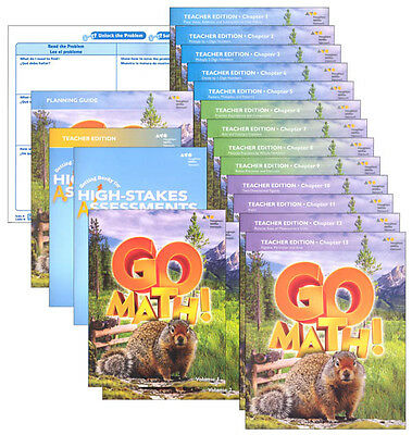 Grade 4 Go Math Homeschool Kit Teacher Editions 4th Curriculum Package 2016