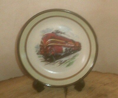 A Lovely Purbeck Pottery Collectable Plate With Train Design