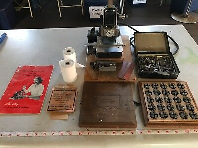 Kingsley Hot Stamp Machine With Lots Of Accessories; Manual, Ribbons, 18 PT Font
