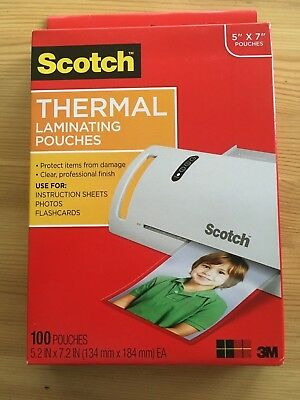 Scotch Thermal Laminating Pouches, 5 x 7-inches, Photo Size, 100-Pouches