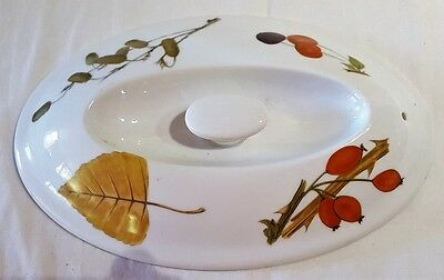 Royal Worcester Evesham Oval Oven Dish Lid Only 22cm x 14cm diameter Replacement