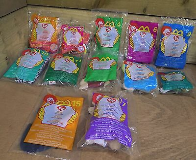McDonalds Happy Meal Toy Ty Teenie Beanie Bundle Job Lot - All Remain Sealed x12
