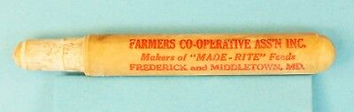 GOOD Vintage Farmers Cooperative Bullet Pencil - Frederick & Middletown, MD