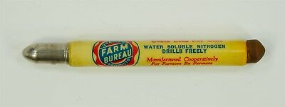 EXCELLENT Vintage Farm Bureau Products Gas Oil Feed Seed Bullet Pencil