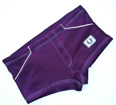 RARE 70's VINTAGE FRED PERRY LOW RISE NYLON SWIM SUIT TRUNKS SWIMMING BRIEFS M-L