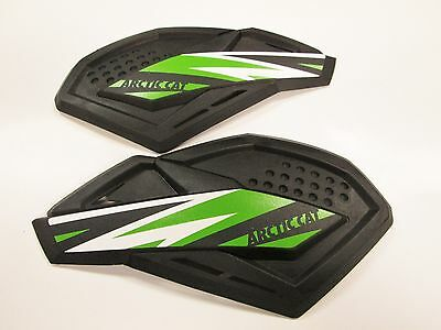 Arctic Cat Black & Green Team Arctic Sno Pro Hand Guards Wind Guards 6639-377
