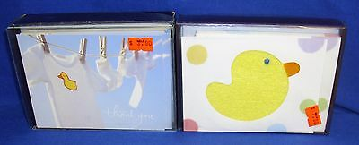 Lot of 27 Blank Thank You Notes Cards with Envelopes Baby Duck Duckie Unused