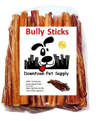 Best Free Range Bully Stick Great Training Dog Treats Low Odor USDA 6 in, 1/2 lb