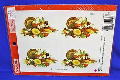 Meyercord Decals Vegetable Basket Decal Sheet of 4 1981 3-1/4 x 1-7/8 Water