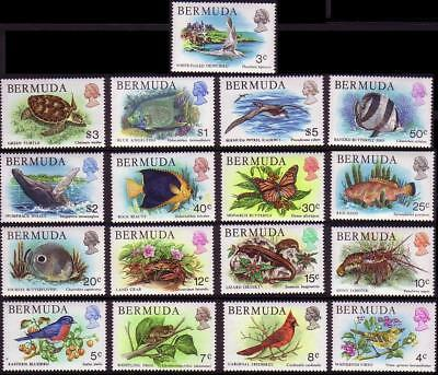 Bermuda Birds Turtle Fish Wildlife 17v SG#387-403